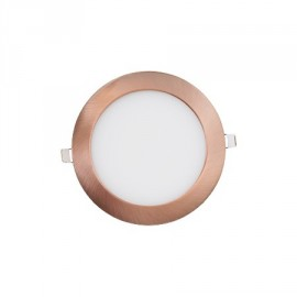 Downlight led redondo 12W cobre
