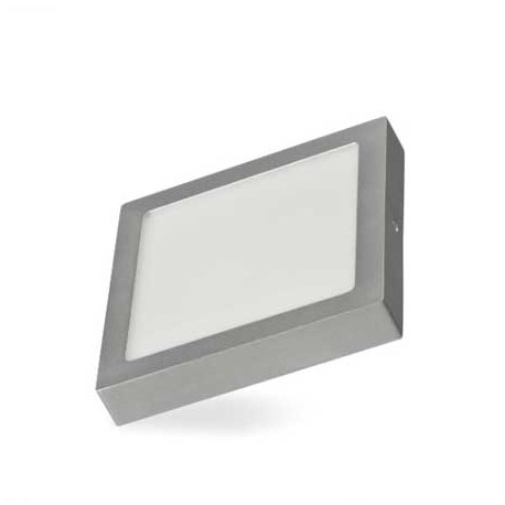 Plafon led cuadrado plata de 18W