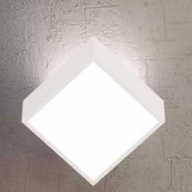 Aplique/Plafón de pared cuadrado para 2 bombillas G9 de Mantra