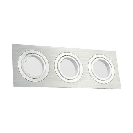 Aplique para GU10 rectangular plata 255x91x25mm basculante