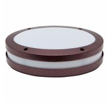 Plafón led ovalado marrón óxido para exterior para 1 bombilla E27