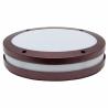 Plafón led redondo marrón óxido para exterior para 1 bombilla E27