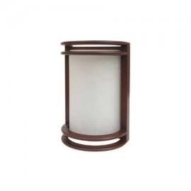Aplique led redondo marrón óxido para exterior para 1 bombilla E27