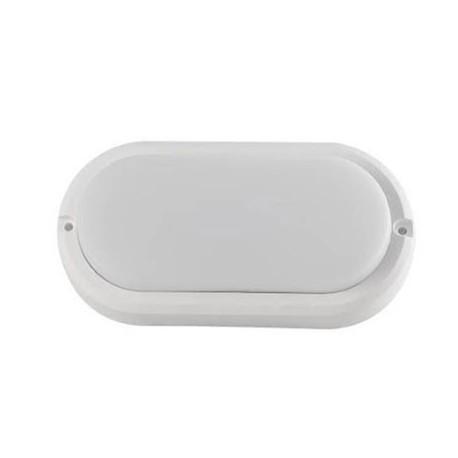 Aplique led ovalado blanco de pared 12W 4000K