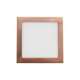 Downlight led cuadrado 18W cobre