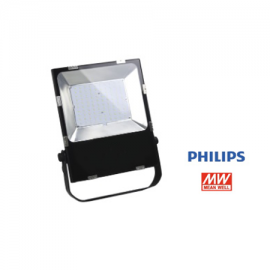 Foco led 100W negro Chip Philips fuente Meanwell