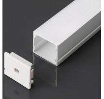 Perfil superficie de aluminio acabado plata 2000x30x20 mm