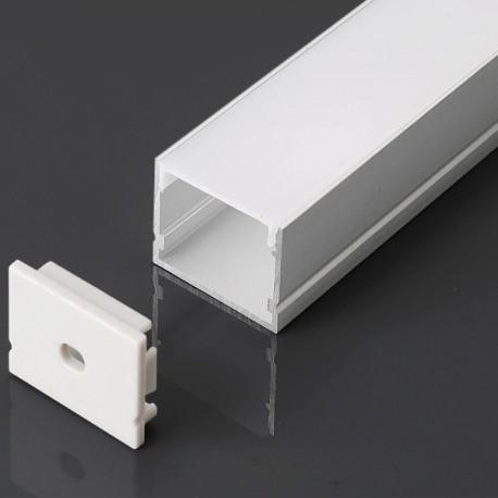 Perfil superficie de aluminio acabado blanco 2000x30x20 mm