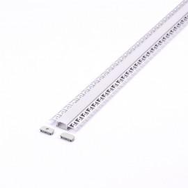 Perfil arquitectonico de aluminio acabado plata 24.5x14 mm