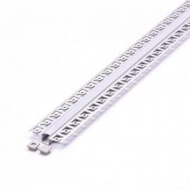 Perfil arquitectonico de aluminio acabado plata 12.5x10 mm
