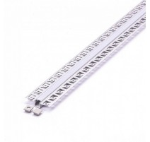 Perfil arquitectonico de aluminio acabado blanco 12.5x10 mm