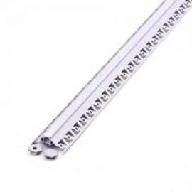 Perfil arquitectonico de aluminio acabado plata 12.5x13.1 mm
