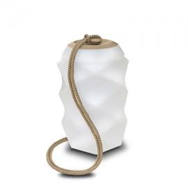 Lámpara portátil BITA beige con bateria de Newgarden