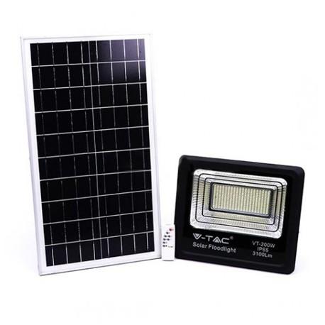 Foco proyector led solar 200W 4000K