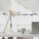 Lámpara de escritorio E27 acabado blanco