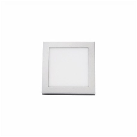 PLAFON LED SUPERFICIE CUADRADO 12W PLATA