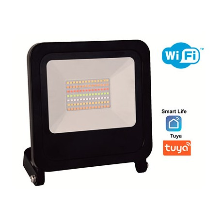 Proyector negro LED SMD 50w 3750lm