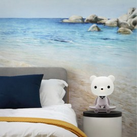 Lámpara de mesita infantil oso blanco CUTE PET 5 Kelektron