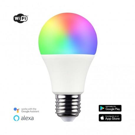 Bombilla inteligente A60 E27 9W RGB+CCT WIFI