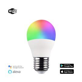 Bombilla inteligente G45 E27 5,5 W RGB+CCT WIFI
