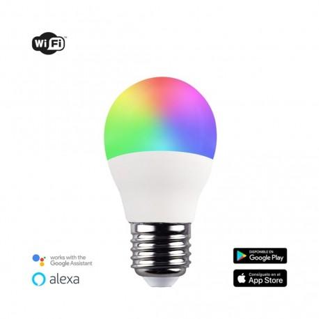 Bombilla inteligente G45 E27 5W RGB+CCT WIFI