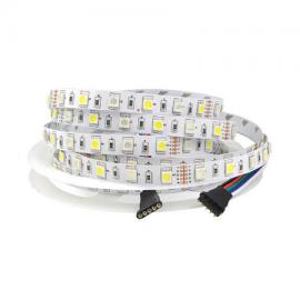Tira led RGB+ Blanco natural SMD5050 60L/m 12V IP20