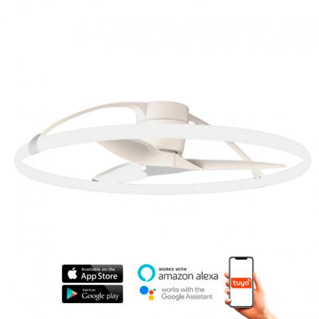 Ventilador de techo NEPAL blanco DC LED CCT Mantra