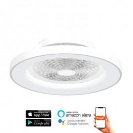 Ventilador de techo TIBET blanco DC LED CCT MANTRA