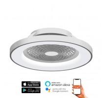 Ventilador de techo TIBET plata DC LED CCT MANTRA