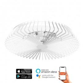 Ventilador de techo HIMALAYA blanco DC LED CCT MANTRA