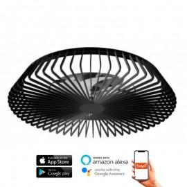 Ventilador de techo HIMALAYA negro DC LED CCT MANTRA