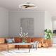 Ventilador de techo NEPAL plata y nogal DC LED CCT Mantra