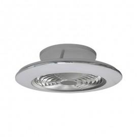 Ventilador de techo ALISIO MINI plata DC LED CCT MANTRA