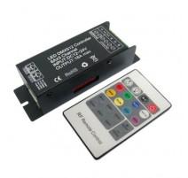 CONTROLADOR DMX RGB CON MANDO RF 12V/24V