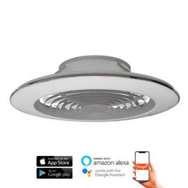 Ventilador de techo ALISIO XL plata DC LED CCT MANTRA