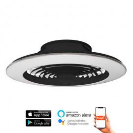 Ventilador de techo ALISIO XL negro DC LED CCT MANTRA