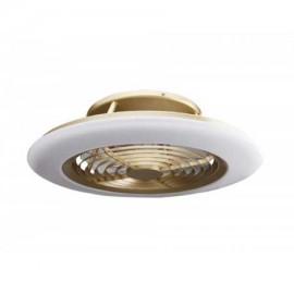 Ventilador de techo ALISIO cuero DC LED CCT MANTRA