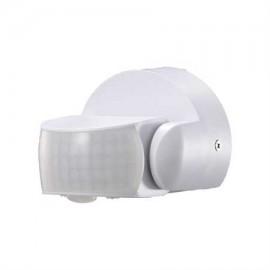 Sensor de movimiento pared blanco para exterior IP65 gran alcance 360