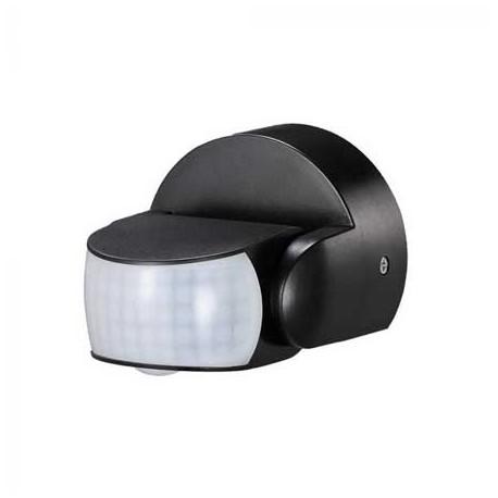 Sensor de movimiento infrarrojo negro IP65