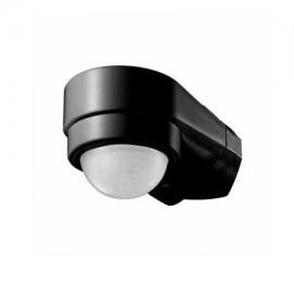 Sensor de movimiento infrarrojo negro esquina 240º IP65