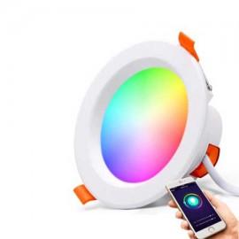 Downlight inteligente 9W CCT y RGB empotrar