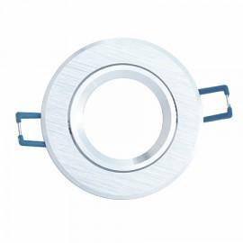 Aplique redondo aluminio cepillado 85(Ø)mm basculante