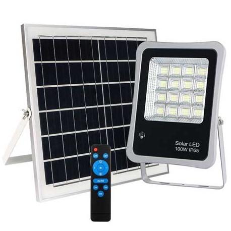 Foco proyector led solar 100W Lumiled 6000K