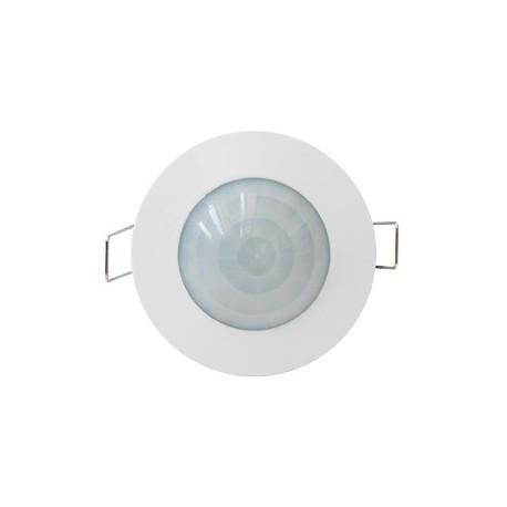 Sensor de movimiento blanco para empotrar en techo