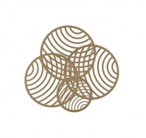 Plafón/aplique led Mantra Collage 7231 60W oro