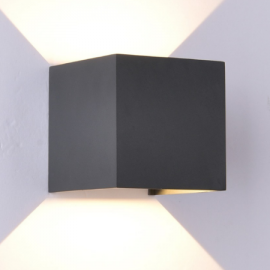 Aplique de pared led Mantra Davos 6520 12W gris oscuro