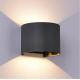 Aplique de pared led Mantra Davos 6522 12W gris oscuro
