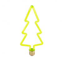 Bombilla led con forma de árbol de navidad E27 8W verde