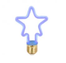 Bombilla led con forma de estrella E27 4W azul