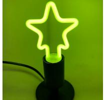 Bombilla led con forma de estrella E27 4W verde